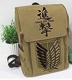 進撃の巨人 リュック バッグ カバン キャンバス素材 アニメ 通学  旅行DR025G0G0H0