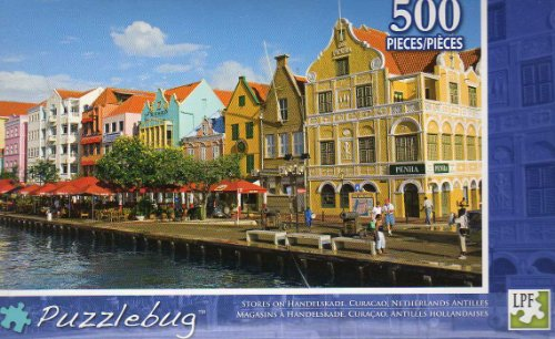Jigsaw Puzzle with Theme: Stores on Handelskade Curacao Netherlands