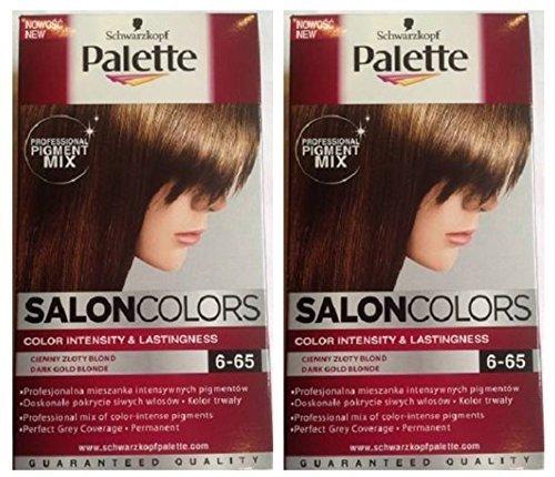 schwarzkopf palette salon couleurs coloration cheveux 6 65 fonc or blonde permanent - Poudre Colorante Cheveux