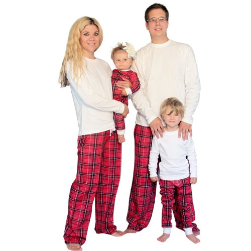Plaid Family Matching Flannel Loungesets By Sleepytimepjs (2T) front-687575