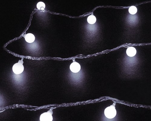 Christmas 1.6Mm Copper Wire 220V 10M 100 Led Ball Lamps String Light Waterproof 8 Flashing Modes Party Fairy Decoration Wedding Ornament Bars Room Home Outdoor Garden Window Wall Nursery Xmas Tree Decor - White front-607668