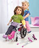 "My Girl Wheelchair & Crutch Set - 18"" doll"
