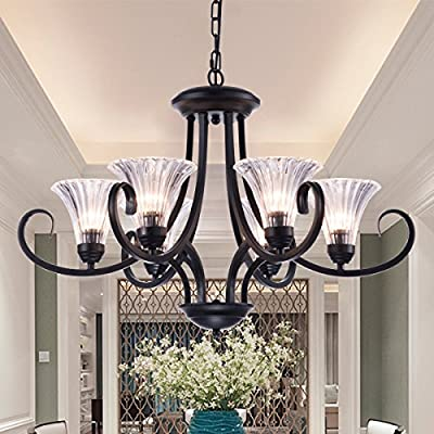 UZI-First-rate Chandelier Lighting With Lampshade For Upscale Interior Decoration