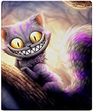 CafePress Cheshire Cat Throw Blanket - Standard Multi-color