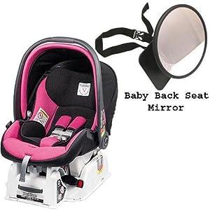 peg perego primo viaggio sip 30 30 car seat w back seat mirror fucsia hot pink. Black Bedroom Furniture Sets. Home Design Ideas