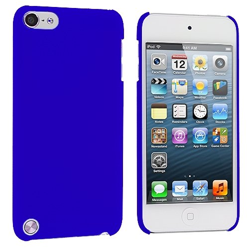 Cell Accessories For Less (Tm) Blue Hard Rubberized Back Cover Case For Apple Ipod Touch 5Th Generation + Bundle (Stylus & Micro Cleaning Cloth) - By Thetargetbuys