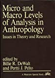 img - for Micro and Macro Levels of Analysis in Anthropology: Issues in Theory and Research book / textbook / text book