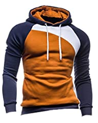 Mooncolour Men's Casual Pullover Long…