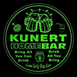 4x ccq24740-g KUNERT Family Name Home Bar Pub Beer Club Gift 3D Engraved Coasters