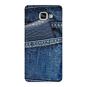 Special Denim Black Vallet Print Back Case Cover for Galaxy A7 2016