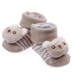 V-SOL Botas Adorables De Oso Marron 100% Algodón Bebé Recién Nacido Animal Zapatos por V-SOL en BebeHogar.com