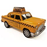 NYC Taxi in Yellow Cab with Pullback Action, Die Cast New York Taxi Toy