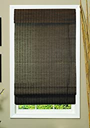 Lewis Hyman 0775160 Natural Fiber Roman Fabric Shade, 60-Inch Wide by 72-Inch Long, Espresso by Lewis Hyman