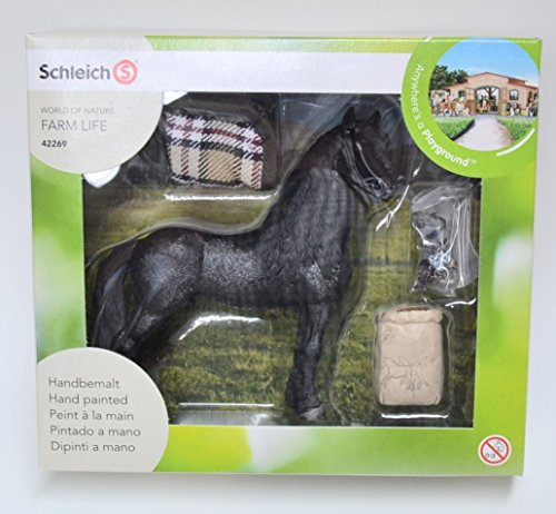 Exclusive Schleich 42269 Frisian Horse Care Set - Special German Edition 2015 - Gift Box