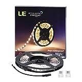LE 12V DC Flexible LED Strip Lights, 16.4ft/5m LED Light Strips, Daylight White, 300 Units 3528 LEDs, Non-waterproof, Lighting Strips, LED Tape