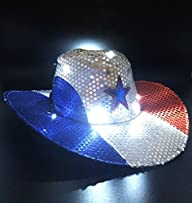 GIFTEXPRESS Light Up Patriotic Cowboy…
