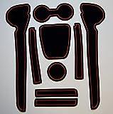 KINMEI(キンメイ) VW Polo ポロ 赤 フォルクスワーゲン 車種専用設計 インテリア ドアポケットマット ドリンクホルダー 滑り止め ノンスリップ 収納スペース保護 ゴムマット 新車 VIIv-p01