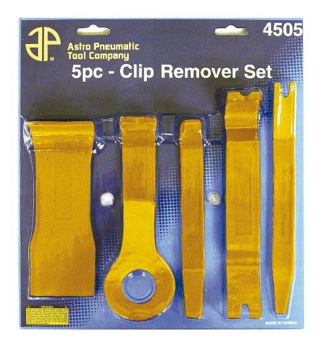 Astro Pneumatic 4505 5-Piece Fastener and Molding Remover Set