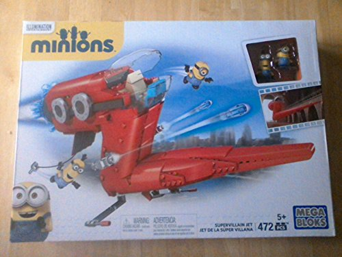 Ship-from-USA-Mega-Bloks-MINIONS-SUPERVILLAIN-JET-Set-472-pcs-Lego-Despicable-Me-Minion-CNF60-ITEMH3NG-UE-EW23D184671
