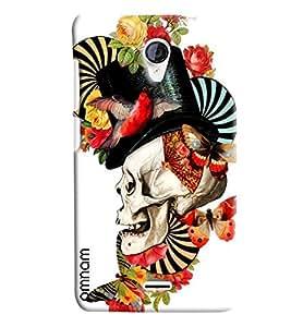 Omnam Beautiful Skelton Art Printed Designer Back Cover Case For Micromax unite 2 A106