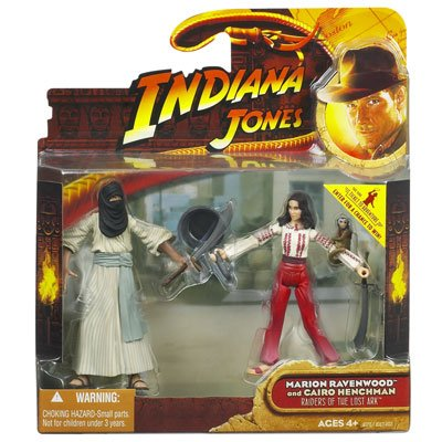 Picture of Hasbro Indiana Jones Action Figure 2-Pack: Marion Ravenwood and Cairo Henchman (B0018PUDVC) (Hasbro Action Figures)