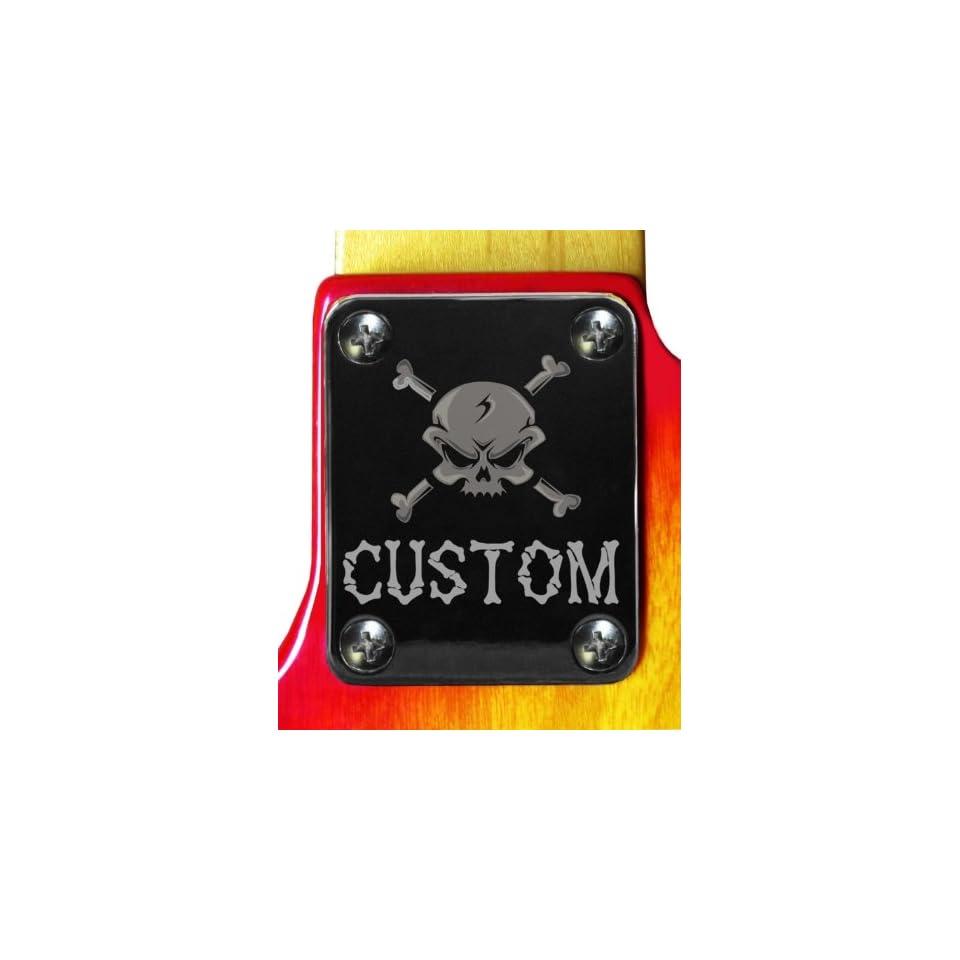 Skull Custom Chrome Engraved Neck Plate
