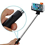 Mpow® iSnap Pro 2-In-1 Self-portrait Monopod with built-in Bluetooth Remote Shutter Perfect for Indoors or Outdoors, Smartphone Photographers Creative Combination of Extendable Selfie Hand-held Stick and Bluetooth Wireless Remote Camera Shooting Shutter With Adjustable Grip Holder To Fit Most Smartphones Compatible with iPhone 6,iPhone 6 Plus 5s 5c 5 4s 4,Samsung Galaxy S5 S4 S3, Note 10.1 8 3 2 Moto X, Droid 2, Google Nexus 4, 5, 7, 8
