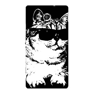 Enticing Thug Cat Back Case Cover for Sony Xperia SP