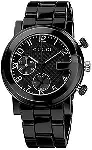 Gucci Men's YA101352 Gucci G - Chrono Collection Analog Display Swiss Quartz Black Watch