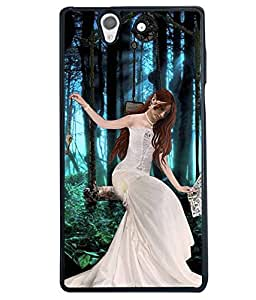 Fuson Forest Girl Back Case Cover for SONY XPERIA Z - D4024