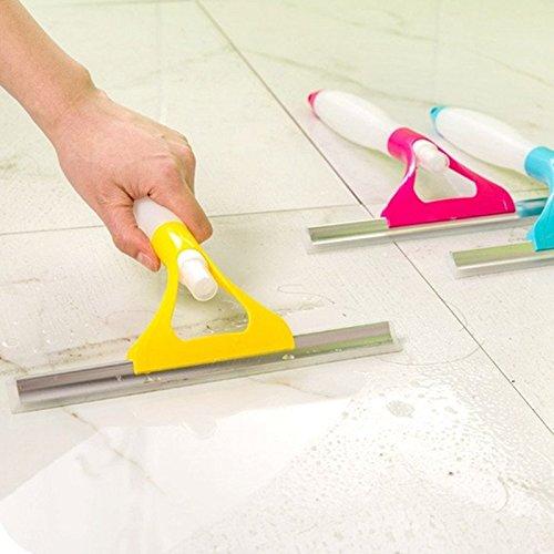 Okayji Spray type Cleaning Brush Glass Wiper Window Clean Shave Car Window Cleaner Brush, Random Colour