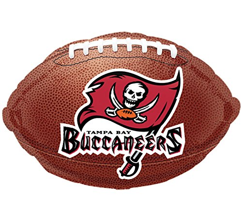 """Anagram International Tampa Bay Buccaneers Flat Party Balloons, 18"""", Multicolor"""