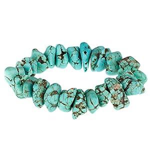 Urban Male Genuine Blue Turquoise Bead Bracelet for Men