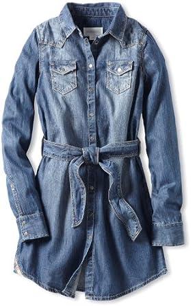 Diesel Big Girls' Daigis Denim Shirt Dress, Indigo, X-Large