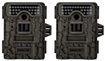 2 MOULTRIE Game Spy D-444 Low Glow Infrared Digital Trail Hunting Cameras - 8MP