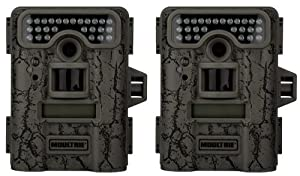 2 MOULTRIE Game Spy D-444 Low Glow Infrared Digital Trail Hunting Cameras - 8MP by Moultrie