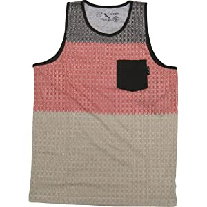 Lost Mini Men's Tank Sportswear Shirt/Top - Brown / Large