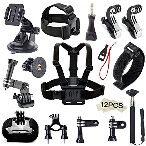 Gogolook-Camera-Accessory-Kit-for-Gopro-Hero-54321-Accessories-Bundle-Set-for-SJ4000-SJ5000-Plus-SJ6000-Xiaomi-Chest-StrapHead-StrapSelfie-Stick-Car-Suction-Cup-Mount-and-More