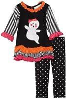 Rare Editions Baby Girls' Ghost Applique Legging Set