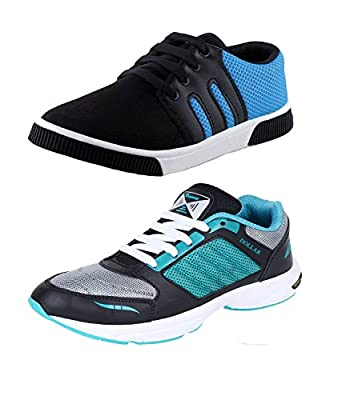 Earton COMBO Pack of 2 Pair of Shoes (Casual Shoe & Running Shoes)