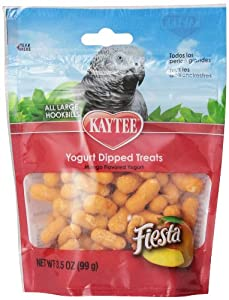 Kaytee Pet Products BKT100502762 Fiesta Yogurt Dipped Parrot Treat, 3.5-Ounce, Mango Flavor