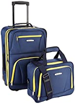 Rockland Luggage 2 Piece Set, Navy, One Size