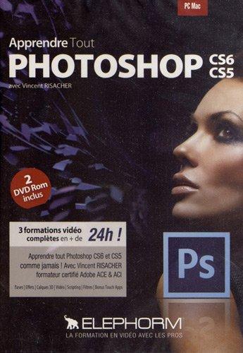 Maîtrisez tout Photoshop CS6 CS5 (Vincent Risacher) 3 formations vidéo complètes en + de 24h ! Apprendre tout Photoshop CS6 et CS5 comme jamais ! Dvd-rom PC Mac. !