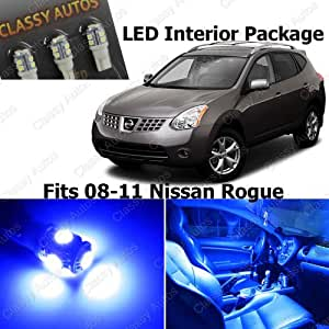 Amazon.com: Classy Autos Nissan Rogue Blue Interior LED