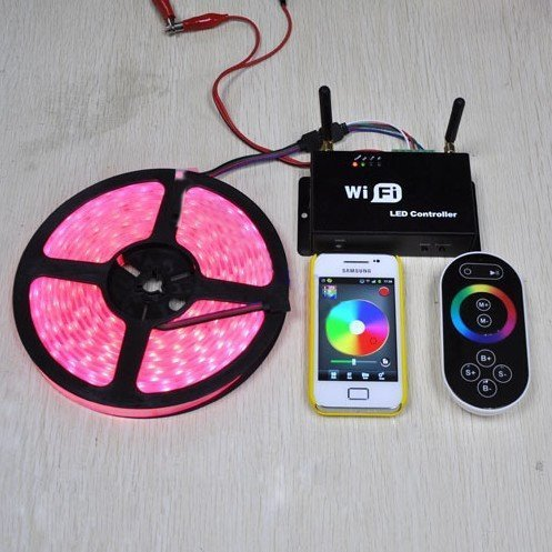 Qich® High Quality Dual Antenna 2.4G Wifi Led Pixel Controlle Wifi Led Controller For Rgb Led Strip Light