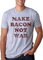 Make Bacon Not War T Shirt funny Bacon shirt I love bacon tee 4XL