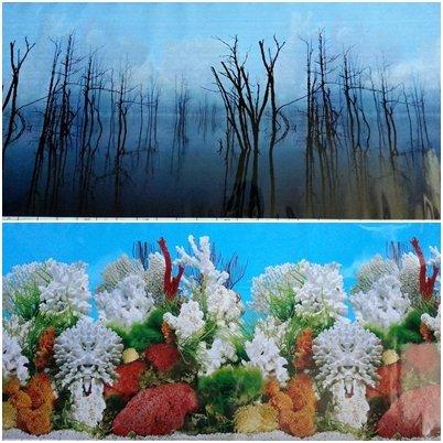 """60""""(L) x 19.50""""(H) Double Sided Aquarium Terrarium Background"""