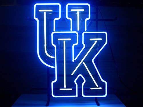 "New University of Kentucky Wildcats Neon Light Sign Home Beer Bar Pub Recreation Room Game Room Windows Garage Wall Sign 17w""x 14""h"