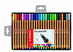 Stabilo Point 25 Stylos feutres 0,4 mm Couleurs assorties