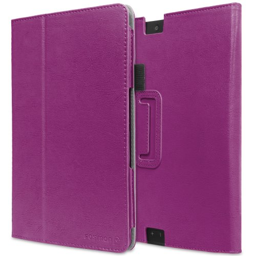 Best  Fosmon OPUS Slim Leather Folio Cover Case with Stand, Hand-Strap, Card and Stylus Slots for Kindle Fire HDX 8.9